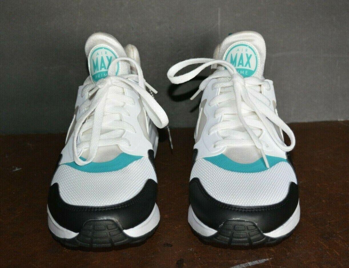 Nike Original Air Max Prime Blanc Turbo Vert Bleu Sarcelle Noir (US Hommes 8.5)