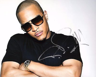 Signed Autographed 8x10 Photo Ad2 Coa Preventing Hairs From Graying And Helpful To Retain Complexion Rap Gfa Clifford Harris Jr T.i Tip