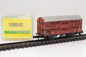 Trix-Minitrix-13615-Spur-N-Viehtransportwagen-Gueterwagen-in-OVP