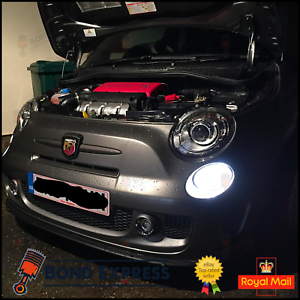 Fiat-500-2007-Abarth-Bright-White-LED-SMD-Daytime-Running-Lights-DRL-Bulbs