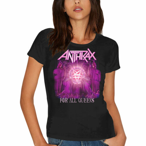 Anthrax Ladies Tee For All Queens Skinny Fit