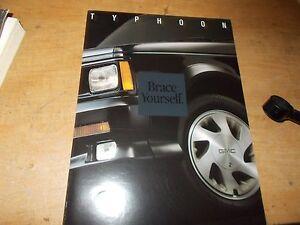 Details about 1992 1993 GMC TYPHOON TRUCK DEALER SALES BROCHURE RARE