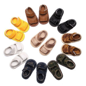 Newborn-Toddler-Baby-Girl-Boy-Leather-Camouflage-Sandals-Summer-Soft-Flat-Shoes