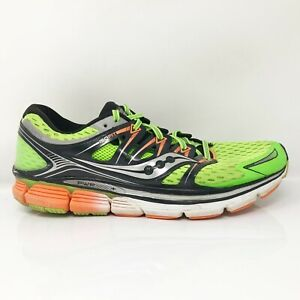 Saucony Mens Triumph ISO S20262-3 Lime Green Running Shoes Lace Up Size 10.5