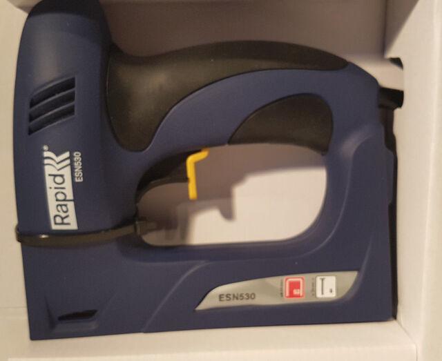 Elektrotacker  Rapid  ESN 530    Typ 53  bis 14mm    incl.1080  Klammern.//  8mm