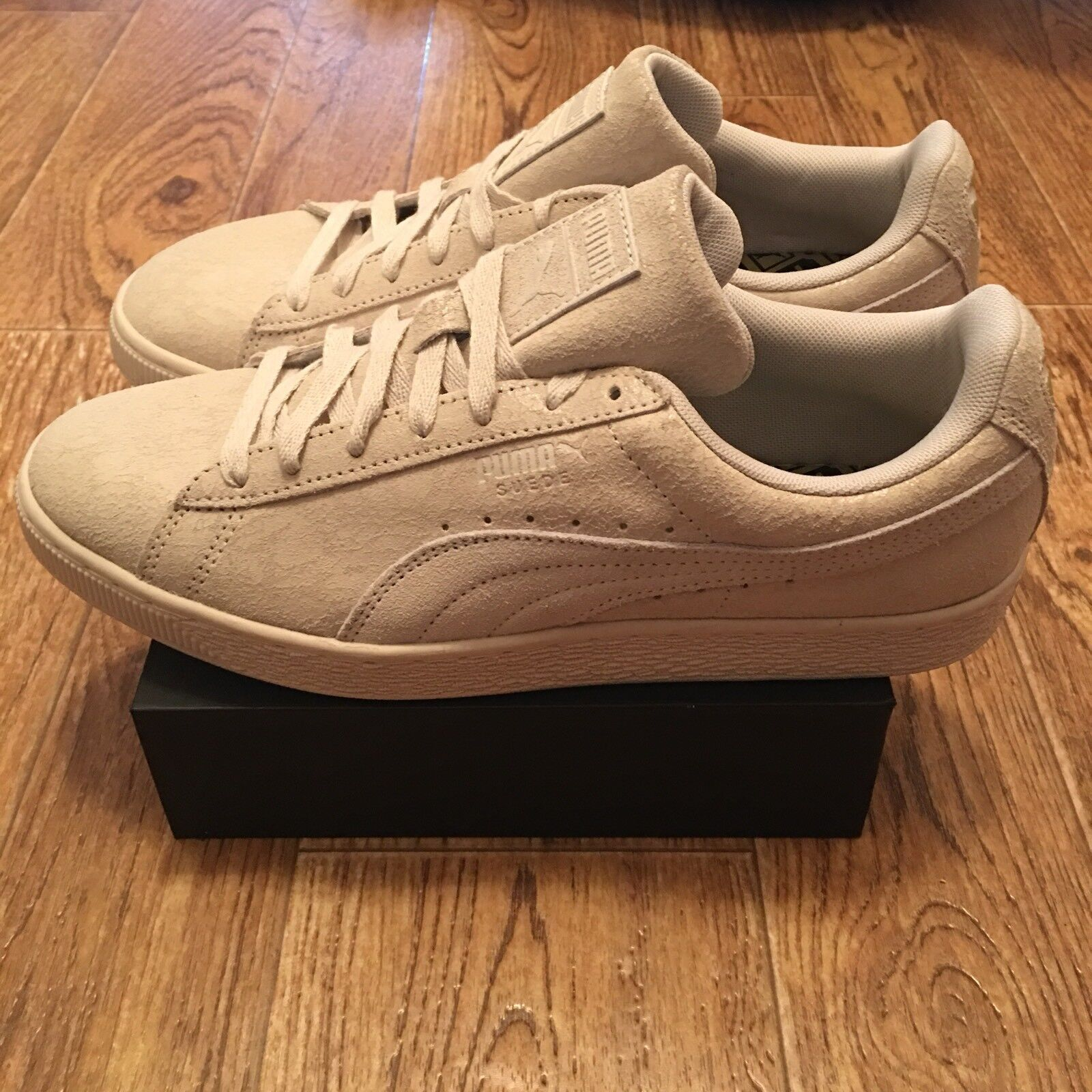 Puma Suede Remaster Womens 361110-02 Birch Athletic Shoes Sneakers Wmns Size 11