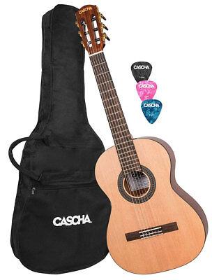 CASCHA HH 2139 DE Konzertgitarre 4//4 Bundle