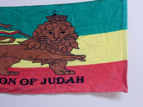 """Cotton Printed Bath Room Hand Towel Lion Of Judah Set of Two 29/""""x13/"""" Clearance"""