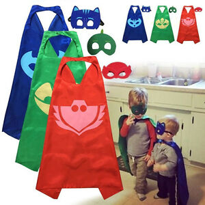 Superhero-PJ-Cape-Mask-Set-Owlette-Catboy-Cosplay-Kids-Birthday-Costume-Party