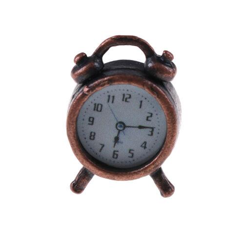Vintage 1//12 Dollhouse Miniature Living Room A Metal Alarm Clock FDBU