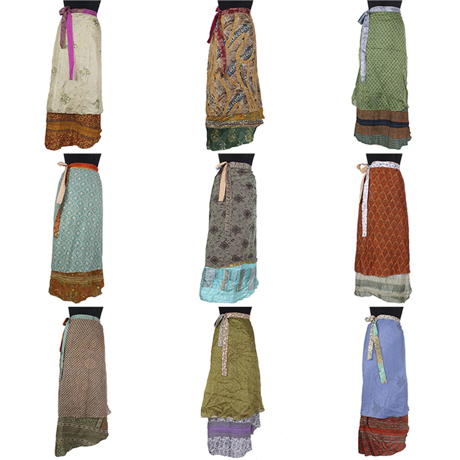 10 Pcs Mix Skirts Reversible Vintage Silk Magic Skirt 38