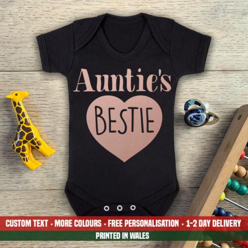 Birthday Aunt Aunty Best Friend Gift Boys Girls Auntie/'s Bestie Baby Vest Grow