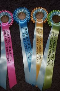 Equestrian sets of 10 x 1st to 4th sets pastel  rosettes free printed tails