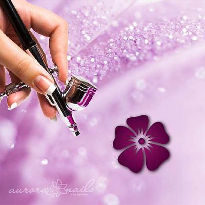 Airbrush klebe Schablonen - B164 - NAILART - 80 Stück Blumen Blüten Blüte Floral