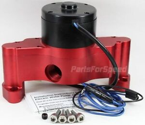 Prp 6150 Small Block Chevy Electric Water Pump Sbc Red