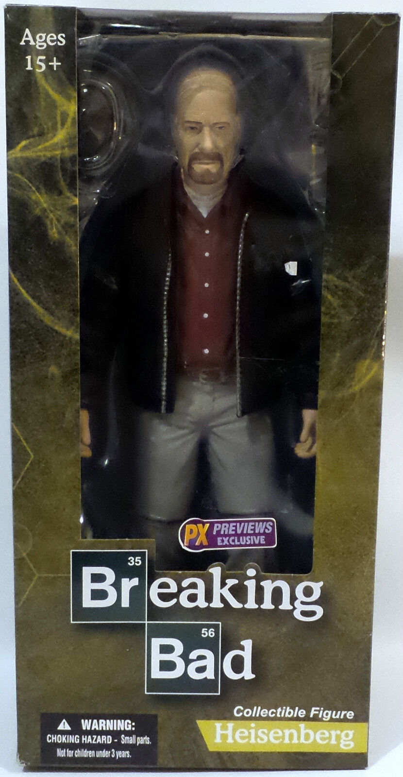 BREAKING BAD : HEISENBERG COLLECTIBLE FIGURE MADE BY MEZCO TOYS IN 2014 (TK)