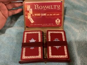 VINTAGE-PLAYING-CARD-GAME-ROYALTY-WORD-GAME-IN-CASE-DOUBLE-DECK