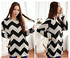 Korean-Women-Plus-Size-Long-Sleeve-Pullover-Ladies-Loose-Casual-Top-Jumper