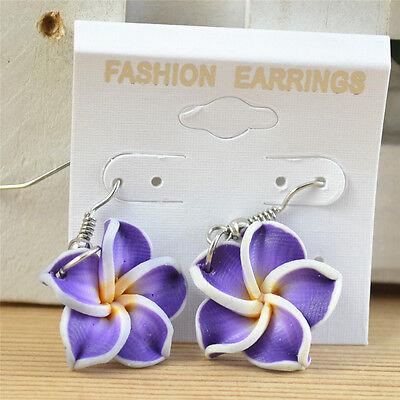 1 Pair Multi-Color Hawaiian Frangipani Flower Children's Earrings 6 Colors