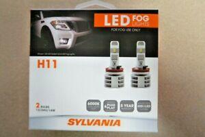 sylvania h11 zevo fog led fog lights bright white led light output 2 bulbs ebay ebay