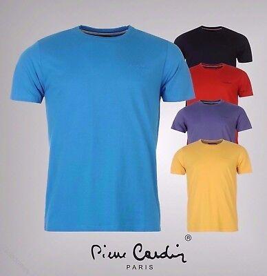 Da Uomo Designer Pierre Cardin Plain Girocollo T Shirt Cotone Top Taglia S-4xl-mostra Il Titolo Originale Prezzo Più Conveniente Dal Nostro Sito