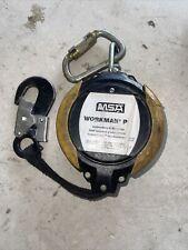 Msa Workman Pfl Self Retracting Web Lanyard Snap Hook Amp Carabiner