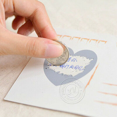 Scratch Off Stickers Secret Message Stickers Funny Lovely Gift Love Stickers DIY