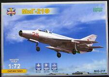 "Modelsvit Models 1/72 MIKOYAN MiG-21F ""FISHBED"" Soviet Jet Fighter"