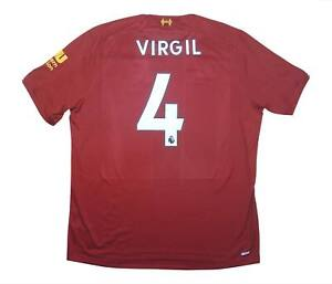 Liverpool 2019-20 Authentic Maglietta Virgil #4 (eccellente) XL soccer jersey