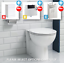 thumbnail 9 - Bathroom-Bundle-500WC-Unit-Toilet-Pan-amp-Seat-Concealed-Cistern-Vanity-Unit