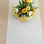 white glitter sequin table runner wedding anniversary birthday cake table decor