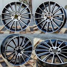 19x85 42 19x95 45 5x112 Black Macined Staggered Wheels Fit Mercedes Benz