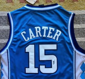 Image is loading Vince-Carter-Signed-Autograph-UNC-Jersey-Rare-NBA- 03f142c05