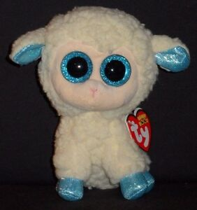 """TY BEANIE BOOS - OLGA the 6"""" LAMB / SHEEP - MINT with MINT TAG"""