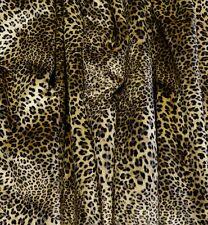 6 7/8yds X-Wide Sexy Velvety Leopard Print Designer Drapery Upholstery Fabric