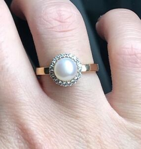 Turkish-Handmade-Jewelry-Sterling-Silver-925-Pearl-Ring-Size-6-7-8-9