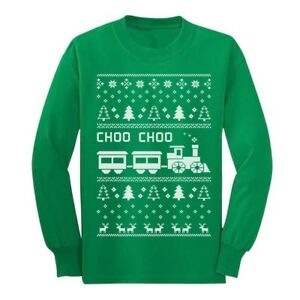 image is loading choo choo train ugly christmas children 039 s - Childrens Ugly Christmas Sweaters