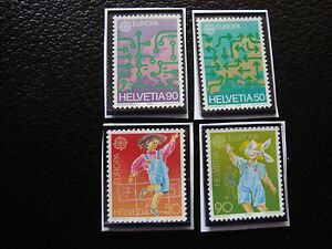 Switzerland-Stamp-Yvert-and-Tellier-N-1298-1299-1323-1324-Nsg-A22-Stamp