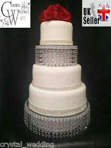 crystal wedding cake stand separator set round or square ebay
