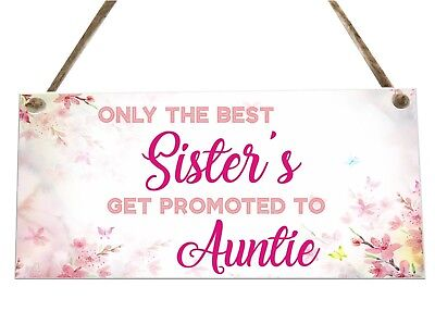 Sister Auntie Family Quote Wooden Plaque Sign Laser Engraved pq113