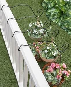 Metal-Garden-Hanging-Solution-Porch-Patio-Outdoor-Set-of-4-Deck-Rail-Hangers
