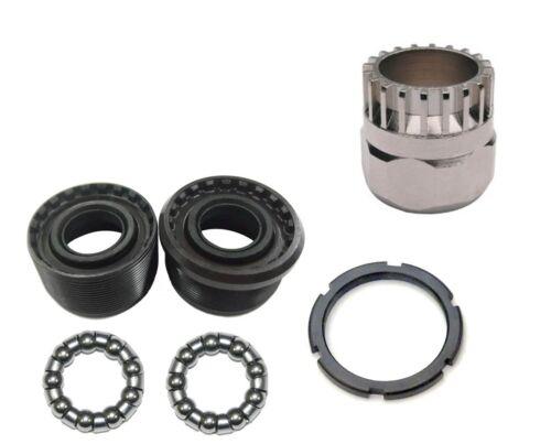 Shimano Type Sealed Bike Crank Bottom Bracket Cup /& Bearing Set 24TPI with Tool