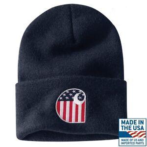 CARHARTT-Authentic-Watch-Hat-Knit-Beanie-Cap-Limited-Ed-FLAG-LOGO-USA-A18