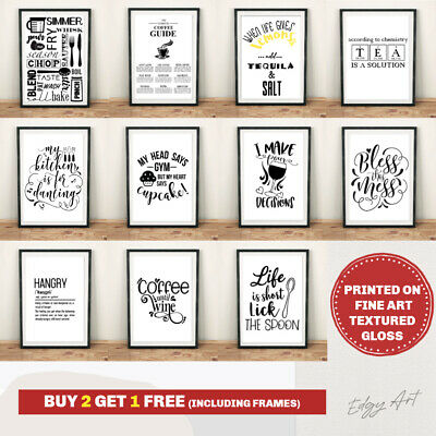 Can't Cook Won't Cook Kitchen Quote Prints Home Décor Typography Wall Art Poster