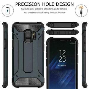 Armor Hybride Robuste Arrière Téléphone Étui Pour Samsung Galaxy S10 Plus S9 S8 S7 Edge