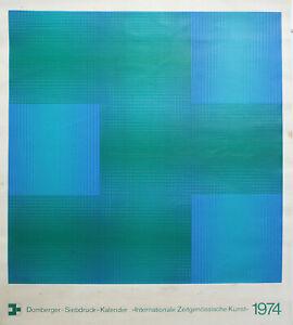 Luitpold domberger-Composizione Astratta (1974). unsignierter farbsieb pressione.