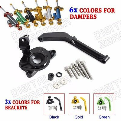 Tbest Steering Damper Stabilizer Mounting Bracket Black Fits for Z1000 2010-2013 Motorcycle Modification