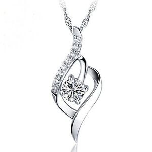 Image is loading Foxtail-925-Sterling-Silver-Pendant-Necklace-Chain-Women- 981252b37
