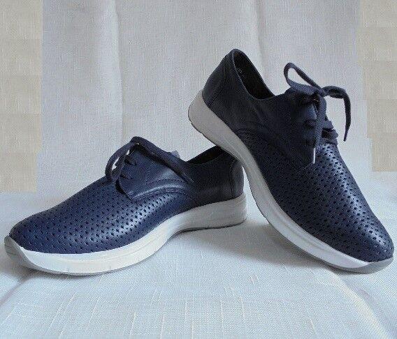 Zapatos casuales salvajes Descuento por tiempo limitado SCHUHE SCHNÜRSCHUH HALBSCHUH LEDER BLAU NATURLÄUFER GR 7 ( 40,5 ) WEITE K NEU