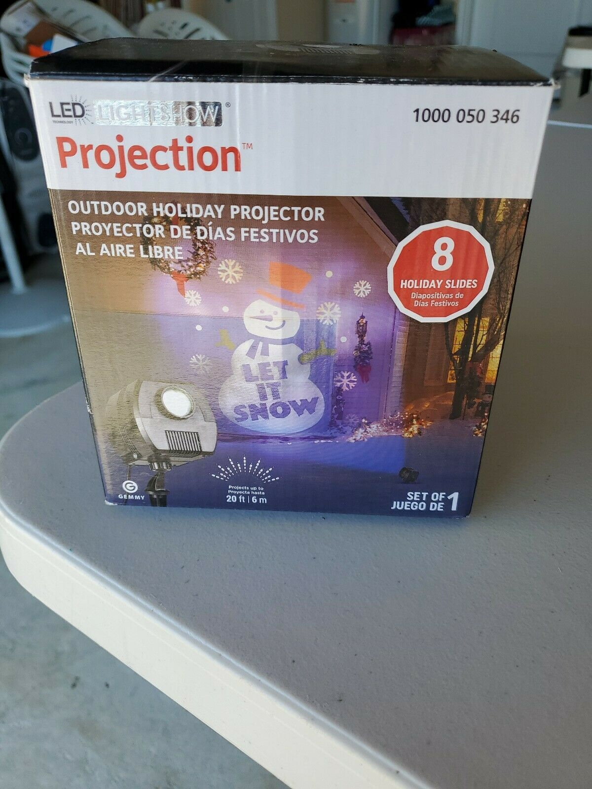 Encell LED Waterproof Indoor Outdoor Projector Light Birthday Wedding Christmas Party Stage Show Decoration,White Light